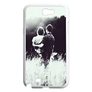 Samsung Galaxy N2 7100 Cell Phone Case White_Lover Couple Princess Hold Bvkfy