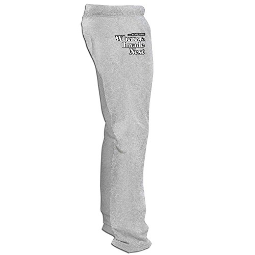 Yesher Fashion Men's Where To Invade Next Training Pants - Ash Size XXL