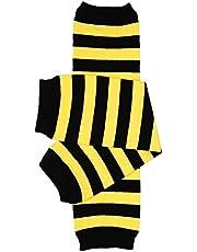 juDanzy bumblebee bee Black and Yellow Stripe baby & toddler boys & girls Leg Warmers