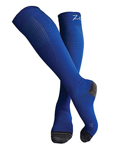 Calcetines de Compresión Zestful - correr, ciclismo, gimnasio, viajes en avión - (Par 20-30 mmHg) - recuperación y rendimiento deportivo para hombres y ...