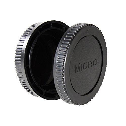 CamDesign Body Cap & Camera Rear Len Cover Set for Micro Four Thirds MFT Micro 4/3 M4/3 Camera & Lens fits Panasonic G1 G2 G3 G10 GH1 GH2 GH2 GH3 GF1 GF2 GF3 GF5 GX1 ; Olympus E-P1 E-P2 E-P3 E-PL1 E-P