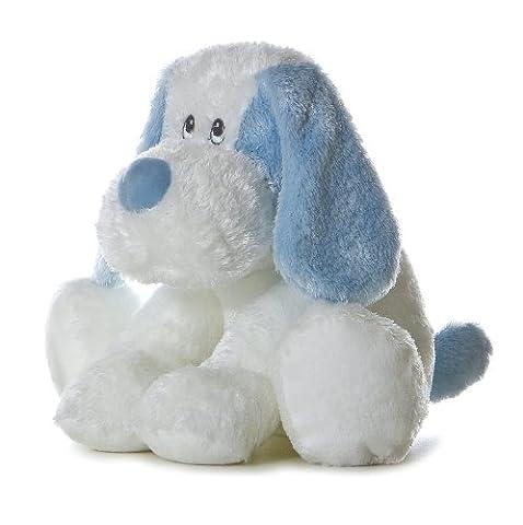 Aurora Plush Baby inches Blue Scruffy - Blue Puppy Plush