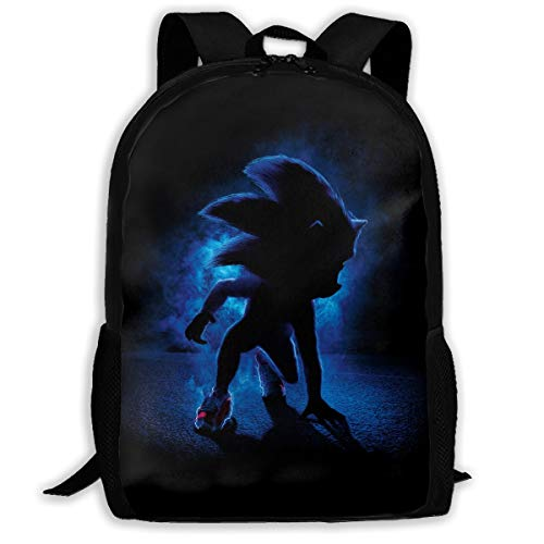 So_nic The Hed-gehog School Backpack Lunch Bag Set School Bag Boys Girls Bookbag