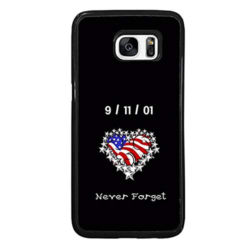 Skinsends Funny Never Forget 9/11 Phone case Compatible with Galaxy S7 Edge, US Flag Heart Protective Cases Compatible with Samsung Galaxy S7 Edge]()