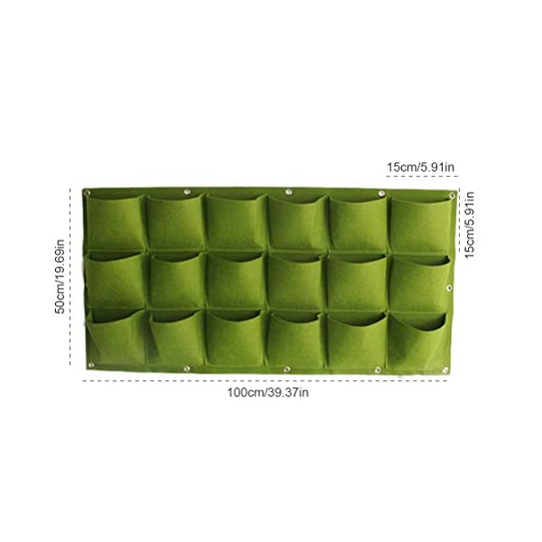 Stylelove Sacco per Piantare Appeso A Parete, 18 Tasche Verde Fioriera per Piantare Fioriera Verticale Giardino Orto… 3 spesavip