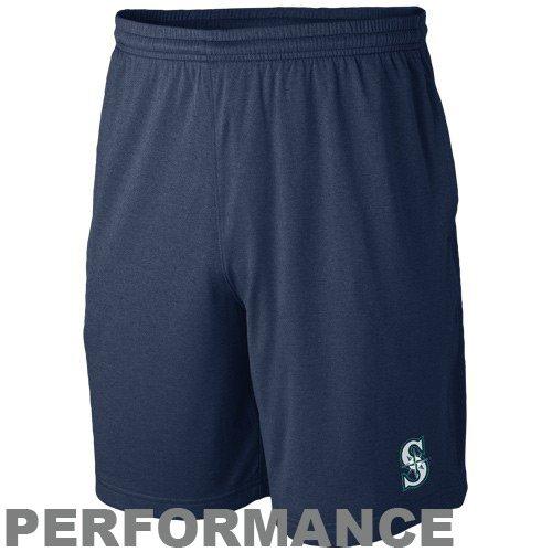 (Nike Seattle Mariners Navy Blue MLB Training Shorts (Large))