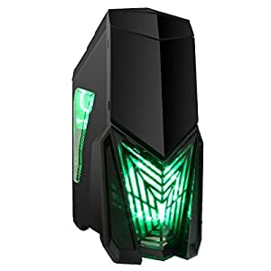 Game Max Destroyer Gaming Case for PC with 3 x 12 cm 15 Green LED Fans by Game Max