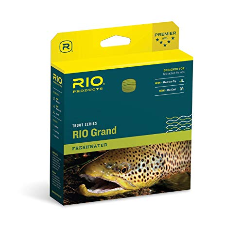 RIO Products Fly Line Rio Grand Wf8F Pale Green/Lt. Yellow, Pale-Green-Lt.-Yellow