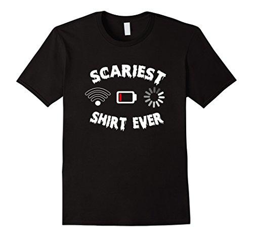 Mens Cool Scary Shirt Ever T-shirt Halloween Costume T-shirt Small (Cool Holloween Costumes)