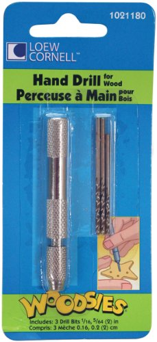 Loew-Cornell 1021180 Woodsies Hand Drill for Woodcrafts