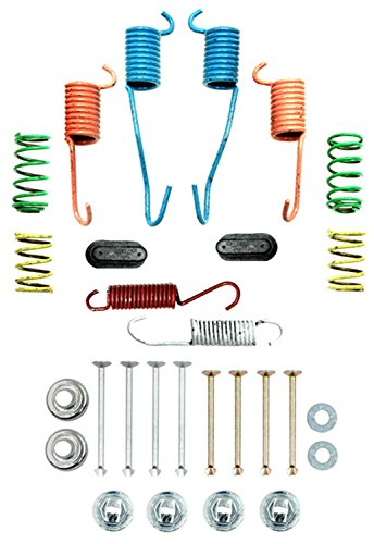 (ACDelco 18K1595 Professional Rear Drum Brake Hardware Kit with Springs, Pins, Retainers, Washers, and Caps)
