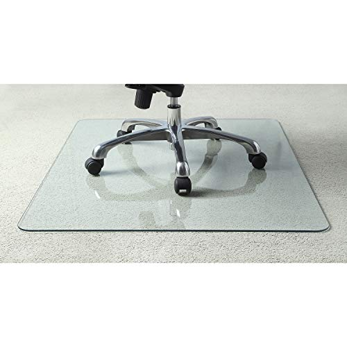 Lorell Tempered Glass Chair Mat (Glass Protector Desk)
