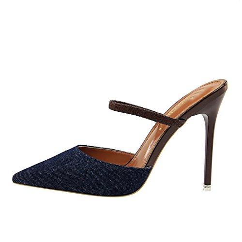 36 MiyooparkUK Bleu Miyoopark 6 foncé Noir Escarpins Femme pour 5 DS86 ZwBqwdz