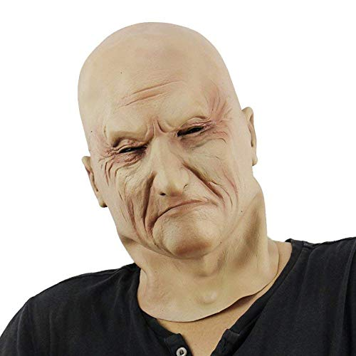 Waltz&F Adult Old Man Bald Latex mask Solemnity Man Halloween Costume Party Props Masks