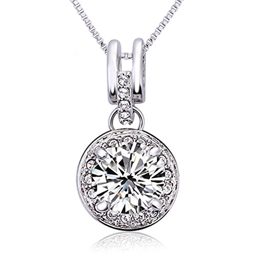 FANSING Jewelry Big White Zirconia Pendant Necklaces for Women (Cute Mushroom Costume)