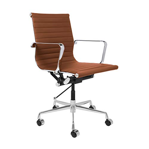 (SOHO Ribbed Management Office Chair (Brown))