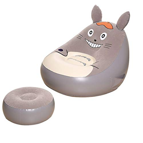 LJM- Toddler Lazy Sofa, Seat Backrest Plush Toys Can Pick and Wash Totoro