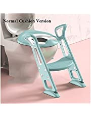 Kids Potty Folding Baby Pot Children's Potty Portable Toilet Seat with Adjustable Ladder Infant Urinal for Boys Baby Potty Training Children's Toilet (Color : QC0106G2)