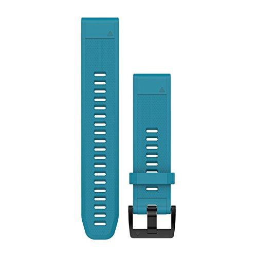 Garmin 010-12496-04 Fenix 5 Quick fit 22 Watch Band - Cirrus Blue Silicone ()