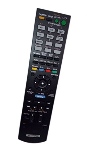 Replaced Remote Control Compatible for Sony HTC-T150HP RMAAU072 148761211 HTCT150 HT-CT150 Audio / Video AV Receiver Home Theater System