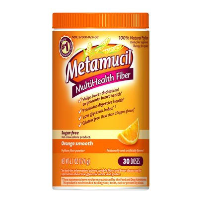 Metamucil Daily Fiber Supplement/Therapy for Regularity, Sugar Free, Orange Smooth, 6.1 oz (Pack of 3)