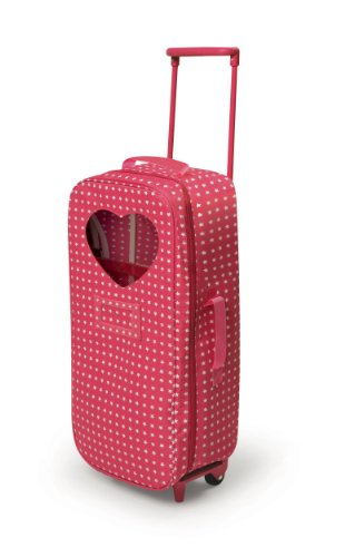 Badger Basket Trolley Doll Travel Case with Rocking Bed (fits American Girl dolls) , Star Pattern (Doll Suitcase)
