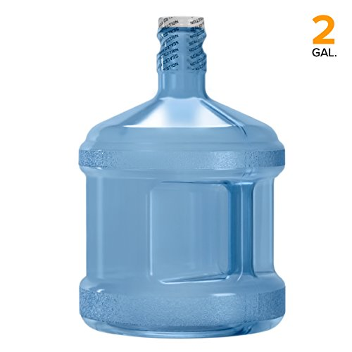 BPA-Free Reusable Plastic Water Bottle Gallon Jug Container - Made in USA (2 Gallon)
