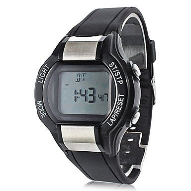 unisex contacalorie goma negra banda Reloj de pulsera con pulsómetro digital: Amazon.es: Relojes