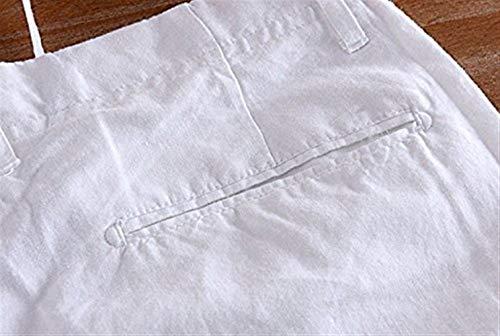 Lunghi Uomo Di Coulisse Cotone Comodi Casual Ampi Lisci Da Semplice Lino In Pantaloni Bianca Spiaggia Pantaloncini Con Stile E EDYWH2I9