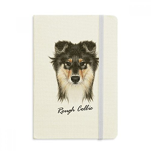 (Long-haired Rough Collie Pet Animal Notebook Fabric Hard Cover Classic Journal Diary A5)