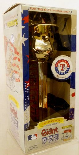 Giant Gold Limited Edition Musical Charlie Brown Texas Rangers Pez Candy Dispenser by Brand New Products - Giant Pez Candy Dispenser