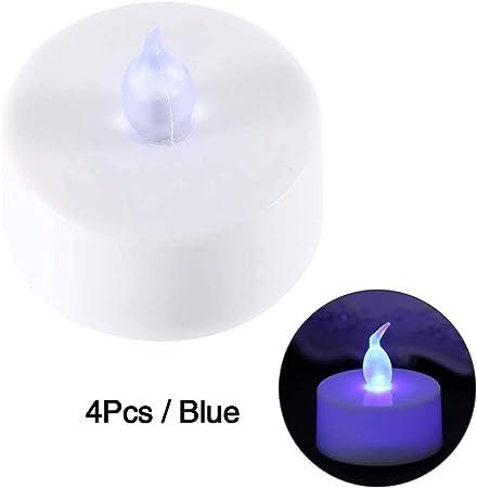 pas mal à bas prix bien 4 PCS Bougie électrique fausse, bougies chauffe-plat sans ...