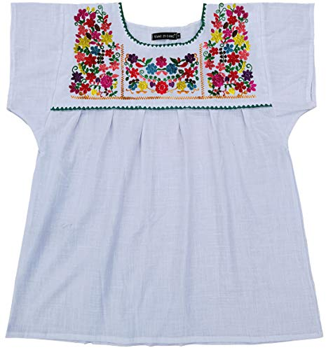 - YZXDORWJ Embroidered Mexican Peasant Blouse (XXL, 290W)