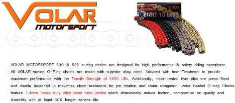 Volar O-Ring Chain Red for 2003-2004 Kawasaki ZZR600