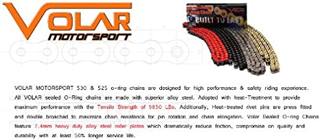 Nickel for 2001-2006 Suzuki GSXR 1000 Volar O-Ring Chain and Sprocket Kit
