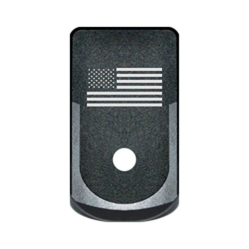 BASTION Aluminum Finger Extension Grip Floor Base Plate EXT for Glock 43 G43 9mm - USA Flag (Vickers Tactical Magazine Floor Plate 2 Glock 43)