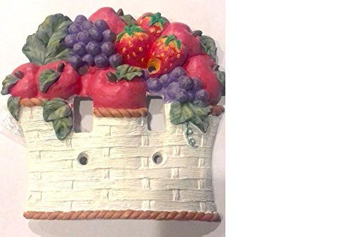Double SwitchPlate covers White Fruit Basket Double home Kitchen Decor DP310