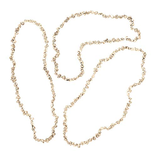 Fun Express Natural Sea Shell Leis Necklaces (Bulk - 36 Pieces) Large 38 Inch -