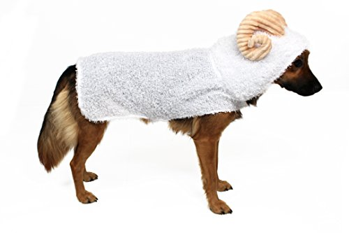Sheep Costume for Dogs by Midlee (Medium) (Lamb Dog Costume)
