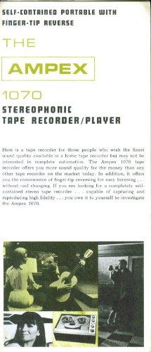 (Ampex 1070 Tape Recorder 3-panel folder 60s)