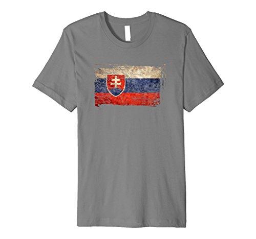 Unique Trendy & Vintage Slovakia Flag Gift T-shirt -