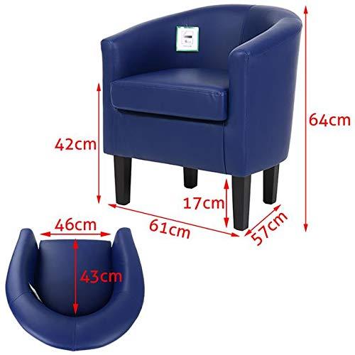 Saves Direct Color Azul Sill/ón Acolchado de Piel sint/ética