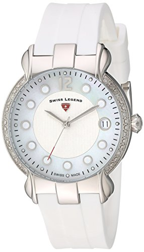 Swiss Legend Women's 'Layla' Quartz Stainless Steel and Silicone Casual Watch, Color:White (Model: 16591SM-02-WHT)