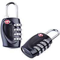 2-Pack Intcrown Combination Locks 4 Digit TSA Approved for Luggage Suitcase Gym Lockers