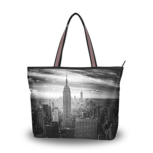 Women's Designer Handbags Fashion Big Canvas Washable Tote Bags Shoulder Bag Top-handle Bag with New York City for Shopping Travel - New York Hut