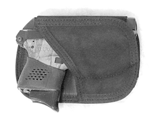 Don't Tread on Me Conceal and Carry Holsters BP2 DTOM Back Pocket Suede Leather Holster for The Ruger LCP Without Laser May Also Work for The Kel-Tec P3AT, Kahr P380, Taurus 738 TCP