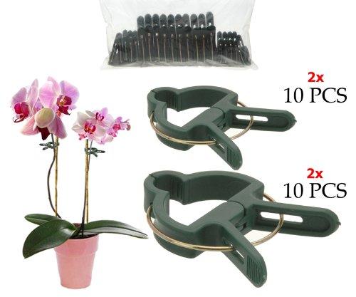 Pro Garten 931442 - Pflanzenclips / Pflanzenklammern - 10x 6,5 + 10x4,5cm Clips für kleine und große Pflanzen