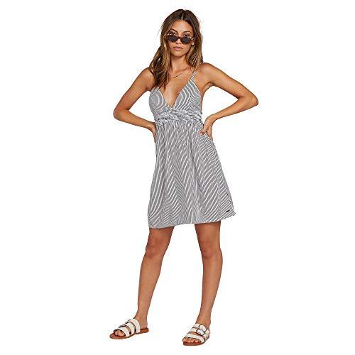 (Volcom Junior's Women's Smock of Segulz Cami Tank Dress, Broken White, Large)