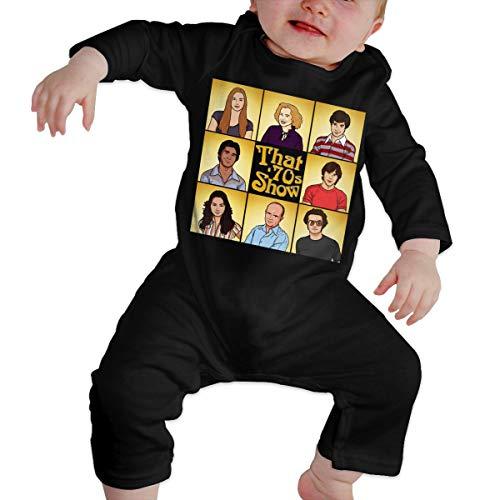 XinDas Boys Girls Baby That 70s Show Romper Bodysuit Baby (6-24 Months) Creeper Onesie Black