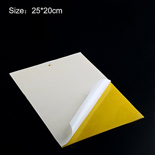 Luerme 20PCS Bug Fly Stickers Glue Board Adhesive Traps Double-sided Yellow Sticky Covers Insect Board For Protecting Crop Plant (2520cm)